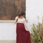 Chiffon Colorblock Maxi Dress