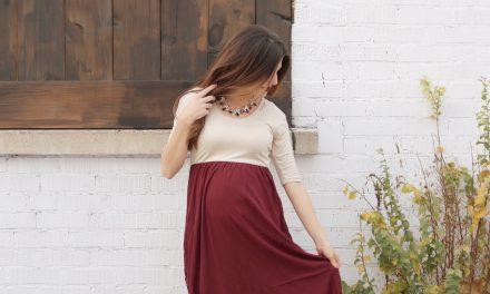 Chiffon Colorblock Maxi Dress